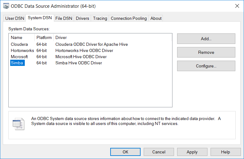 odbc-drivers - Indexima | Documentation v 1 6