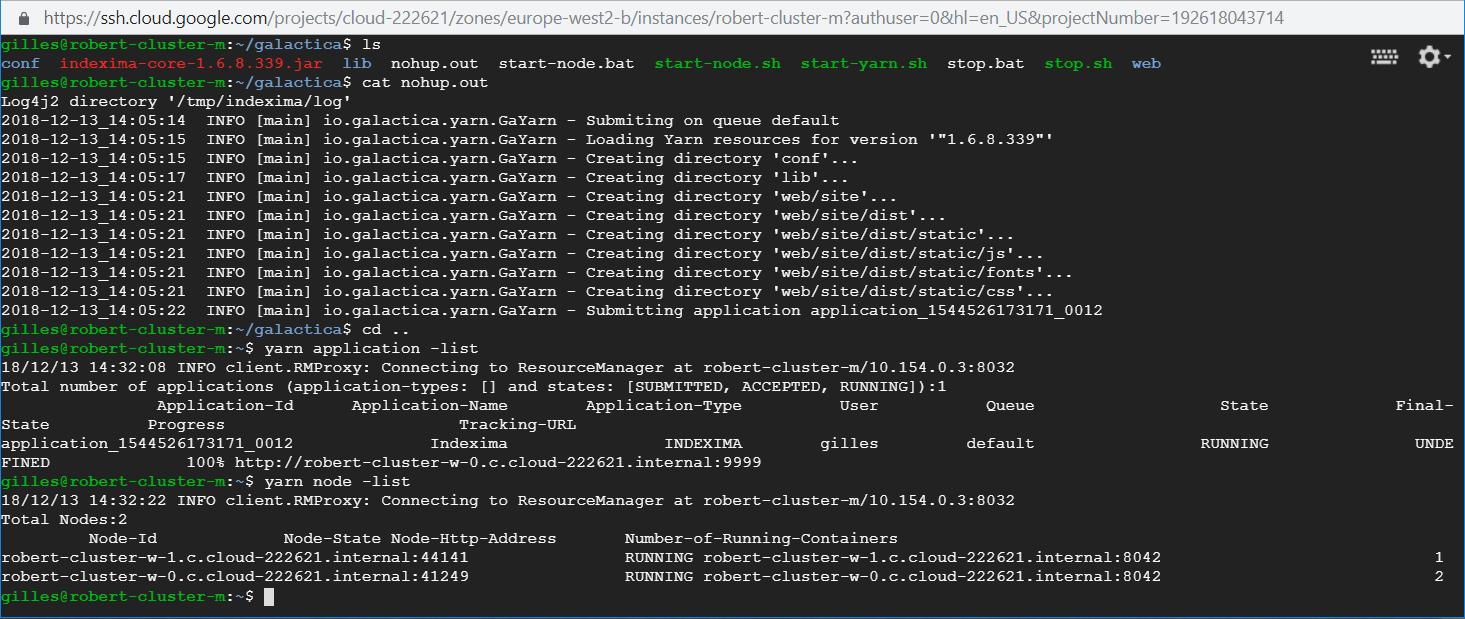 Install INDEXIMA Google - Indexima | Documentation v 1 6